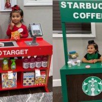 Dad Created Little Versions Of Target And Starbucks For Daughter During Quarantine