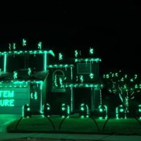 THE MATRIX End Scene Halloween Light Show, And It Is Awesome!