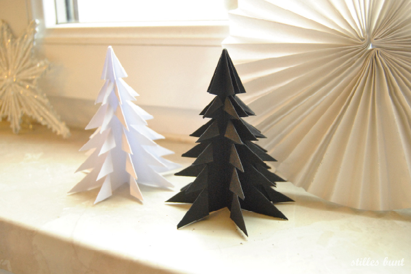 diy paper folded trees 2
