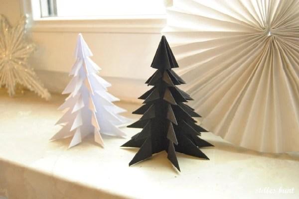 diy paper folded trees 2
