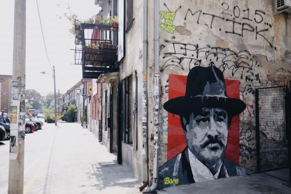 boris bare mural belgrade