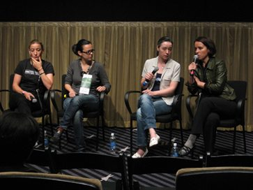 Maripaz Vega, Celeste Carrasco, Eva Florencia and Gemma Cubero del Barrio.  Photo by Anna Pinkert