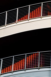 The stunning abstraction of a pair of balconies in Ashville, NC.