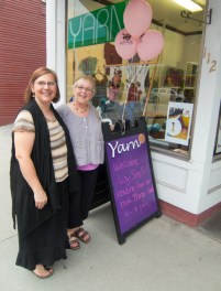 And Liz at the local yarn shop for art walk