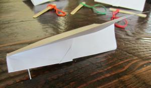 Crafts for boys: catapult plane