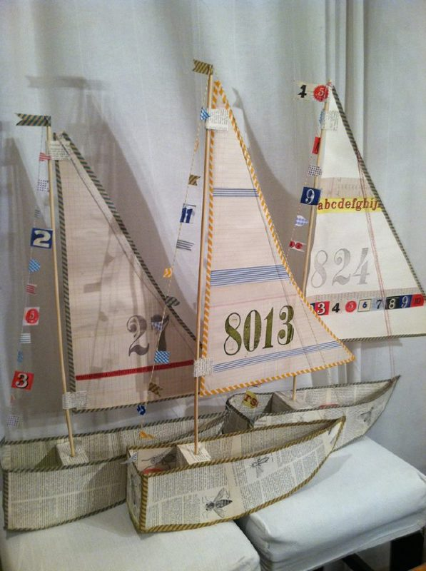 Crafts for boys: paper sail boat