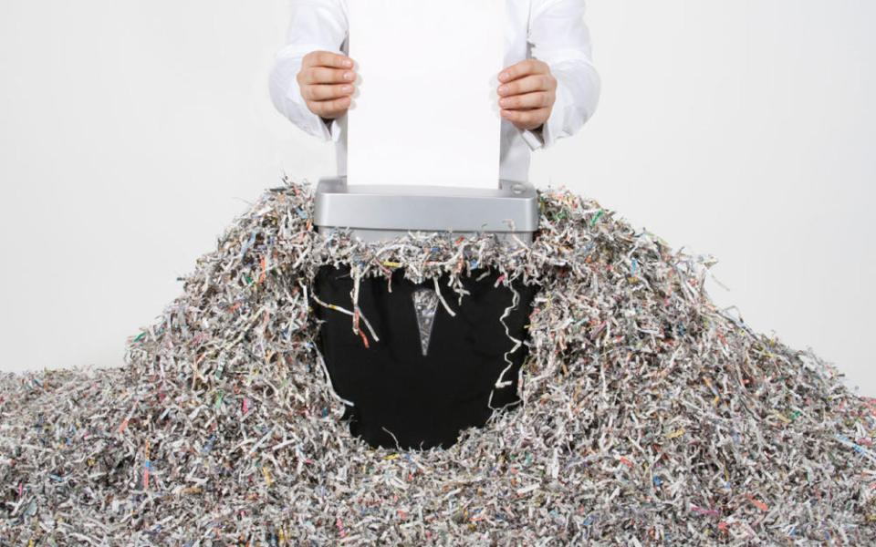 Non Recyclable Shredded Paper