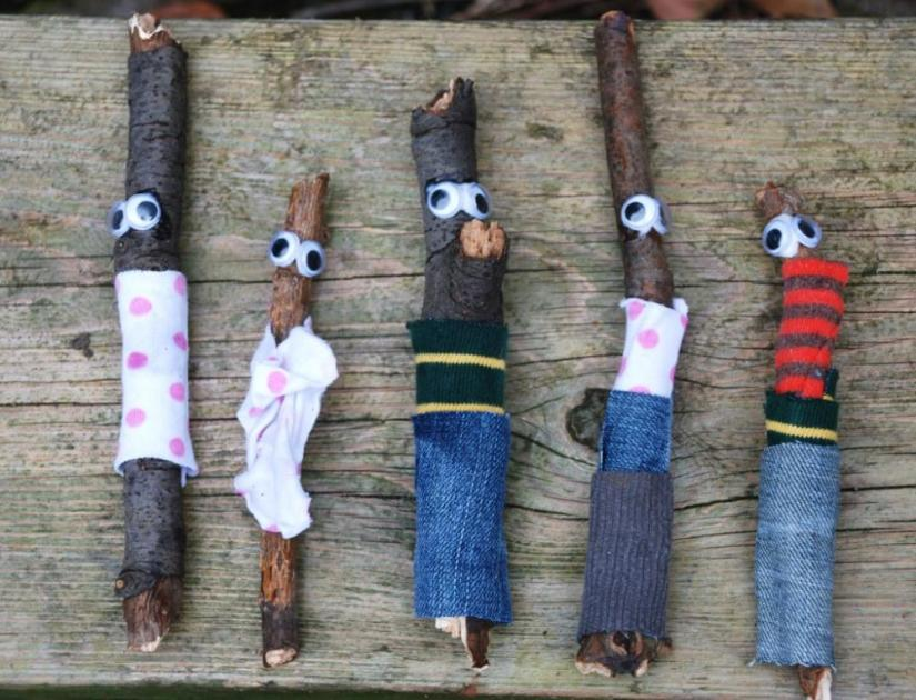 Crafts for boys: stick guy