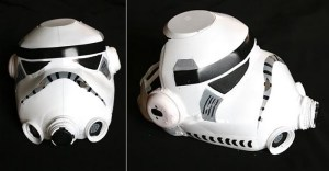 Crafts for boys: milk container helmet