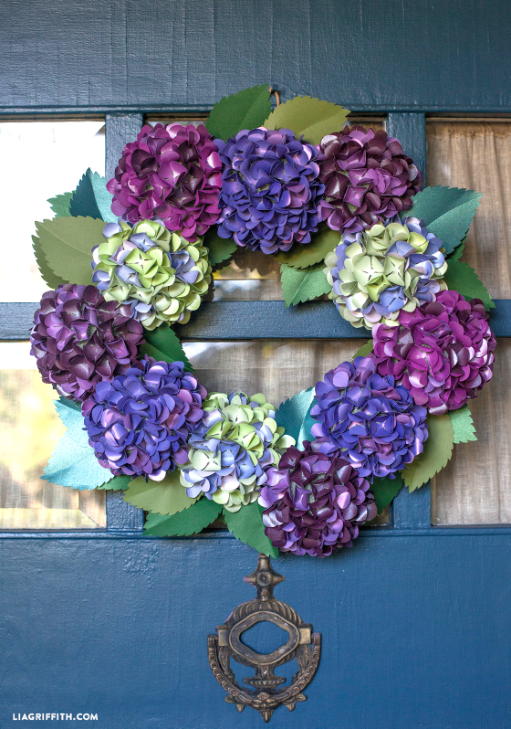 Craft Paper Fall Hydrangea