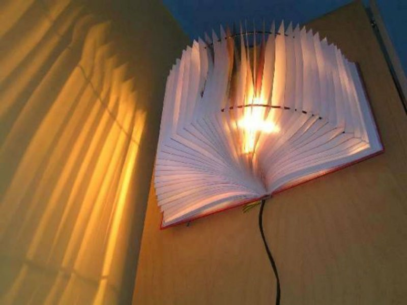 Craft Lights Book Lamp