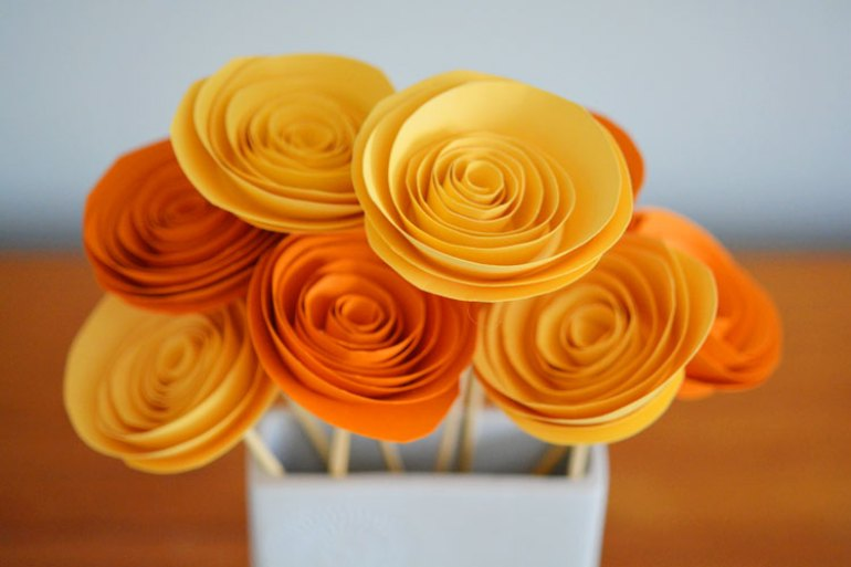 Craft Paper Rolled Flower