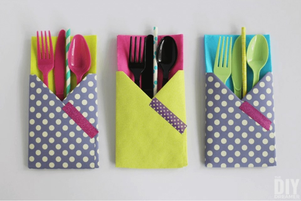 Craft Paper Utensil Holder