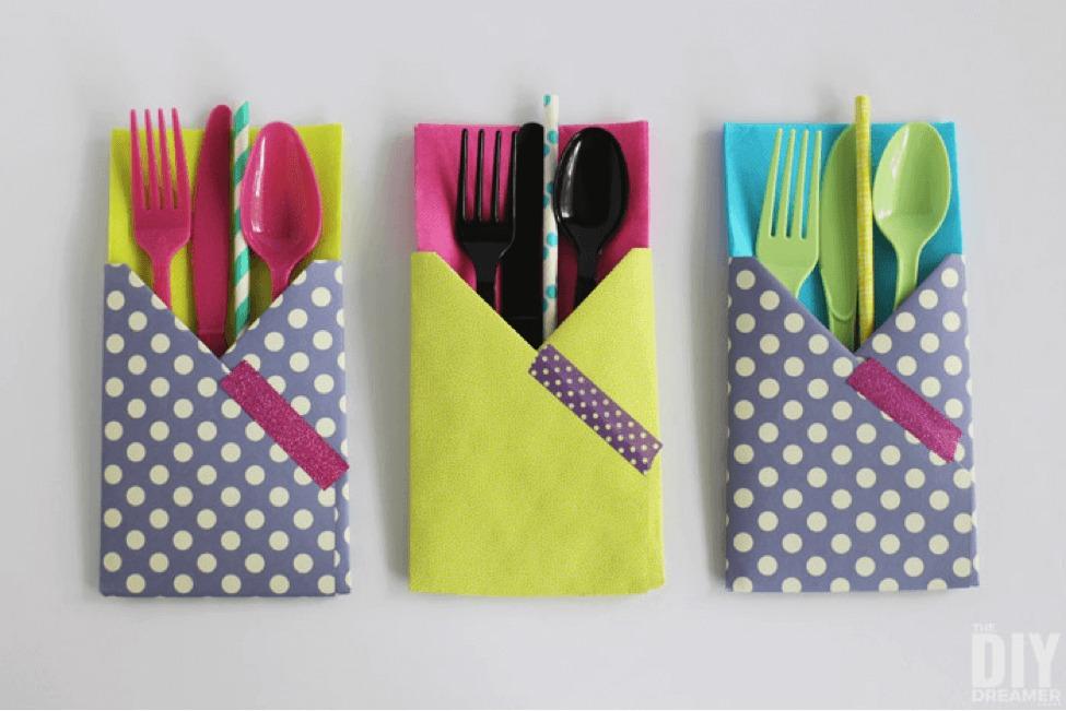 Craft Paper Utensil Holder