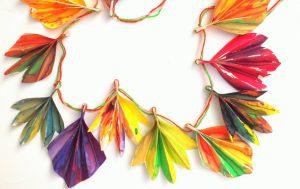 Crafts for Girls Fall Leaf Banner