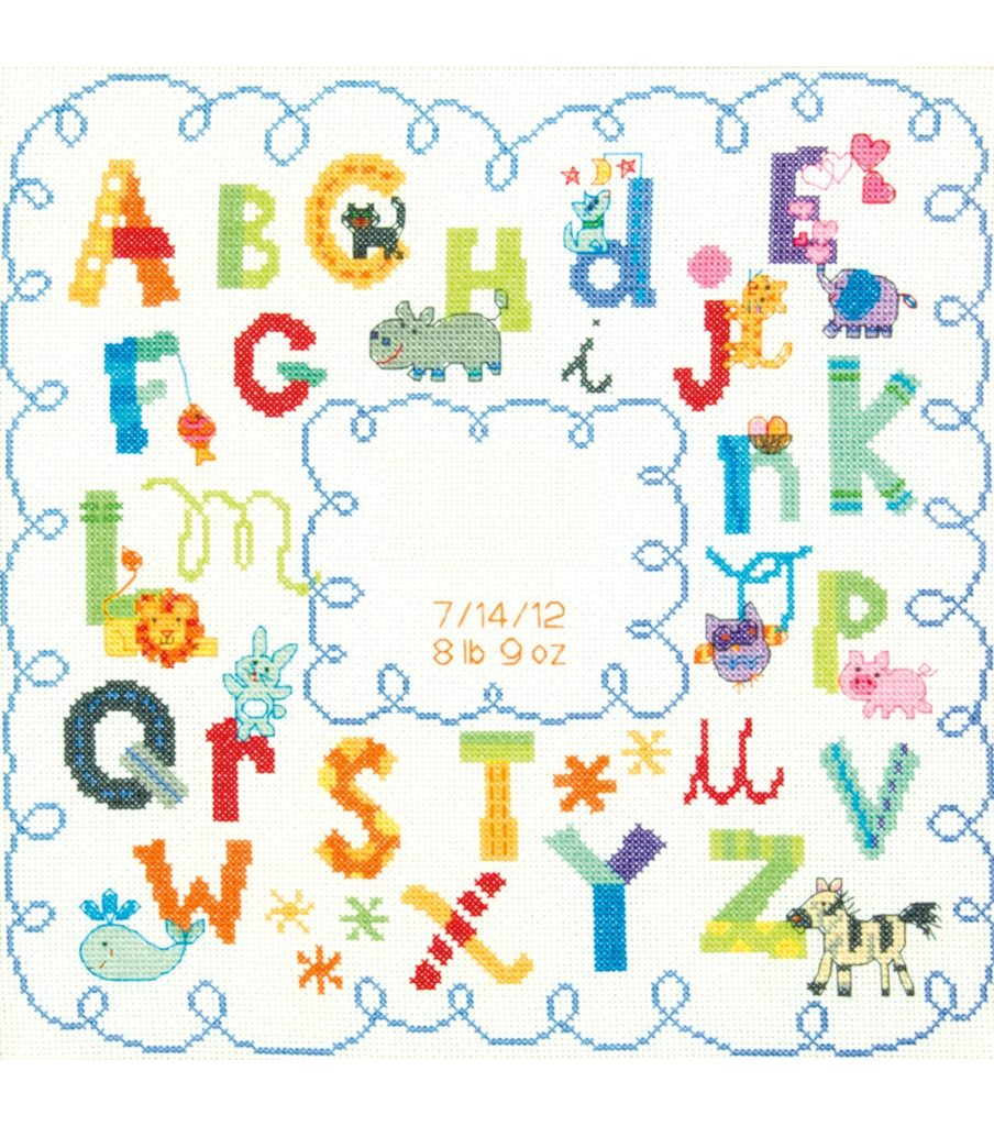 Cross Stitch Alphabet Birthday