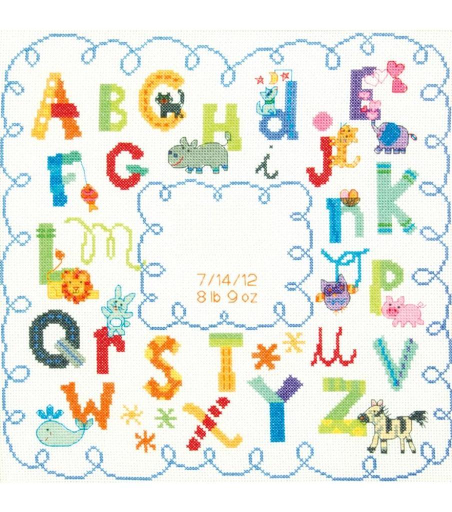 Cross Stitch Alphabet Birthday
