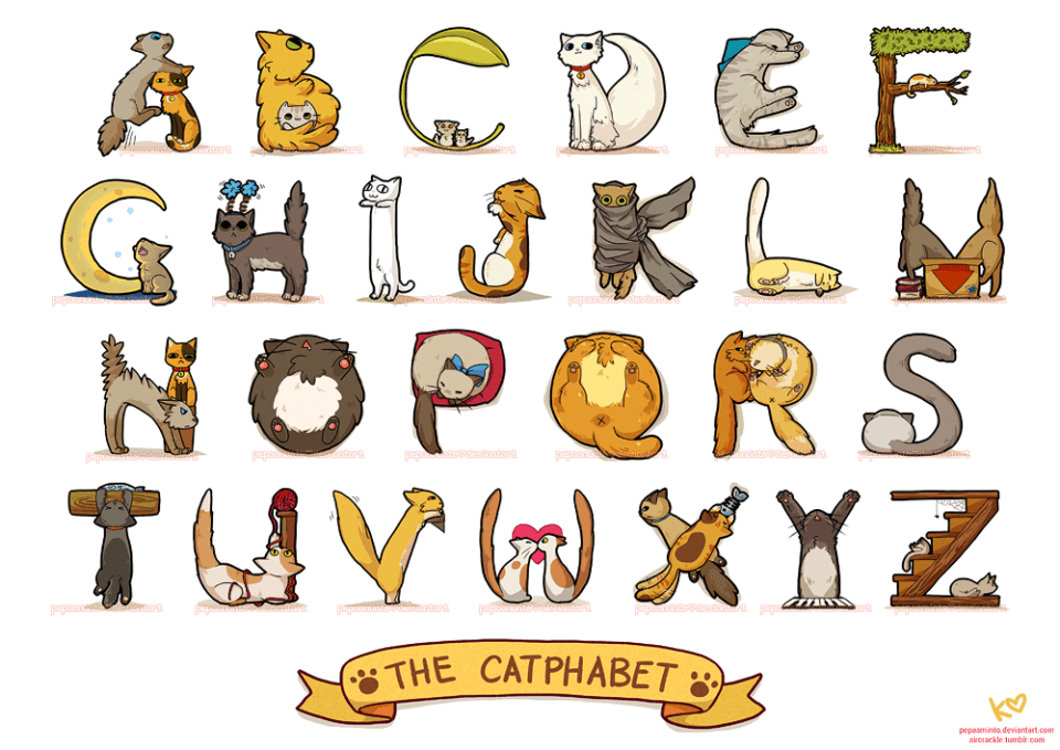 Cross Stitch Alphabet Cat