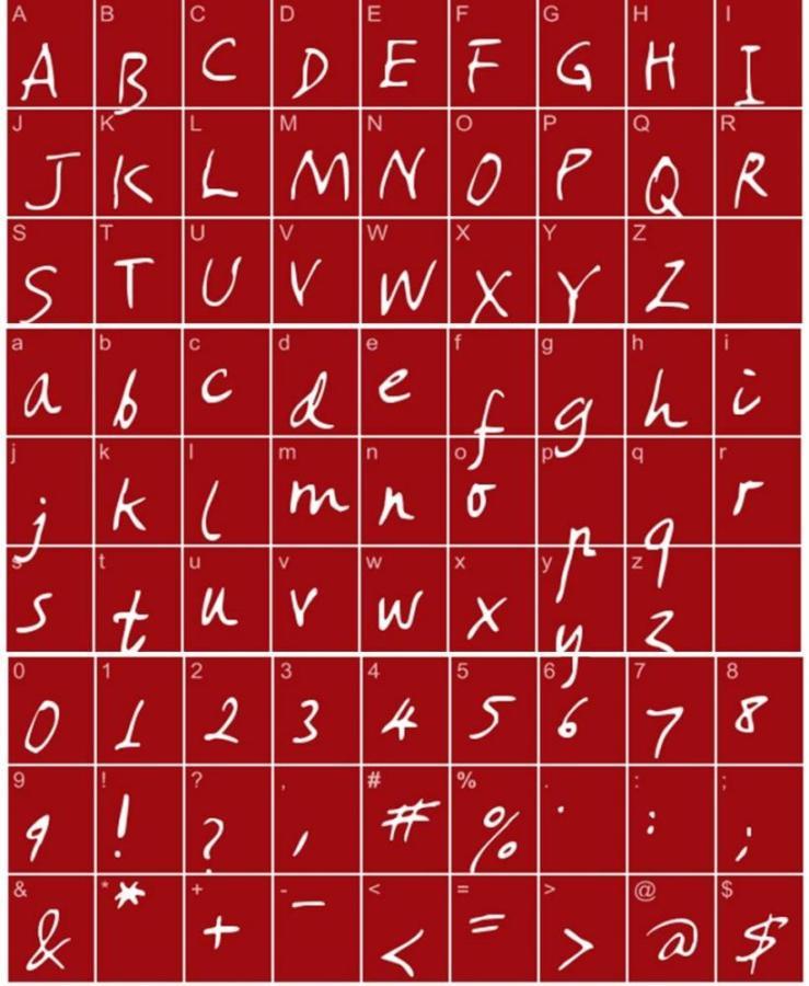 Cross Stitch Alphabet Amano