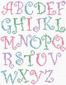 Cross Stitch Alphabet Curlz