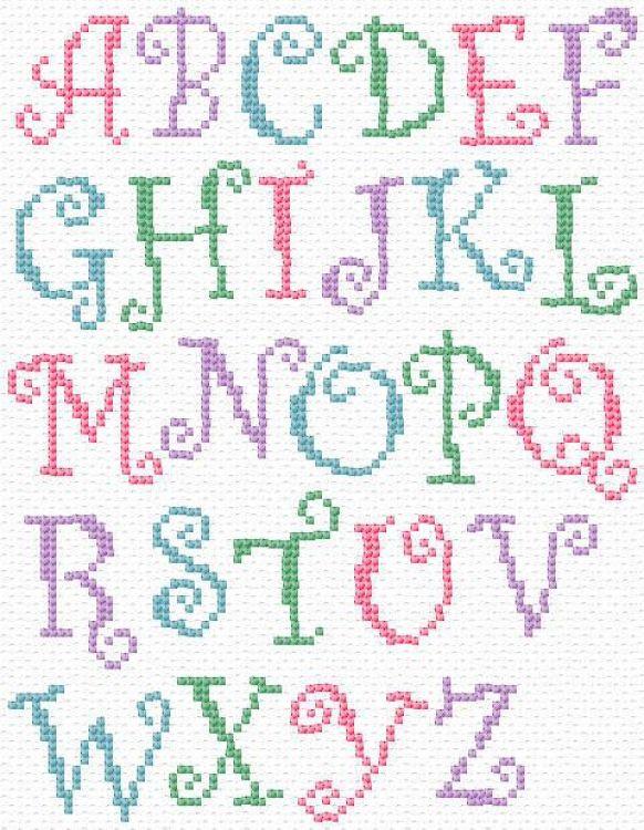25 best simple cross stitch alphabet patterns ideas. Black Bedroom Furniture Sets. Home Design Ideas