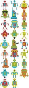 Cross Stitch Alphabet Robot