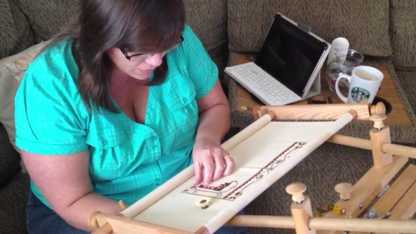 Embroidery Kits Scroll Frames