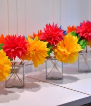 Tissue Paper Craft Centerpiece