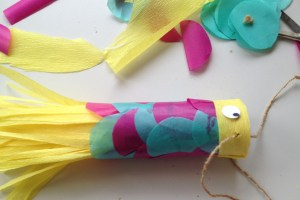 Tissue Paper Craft Fish Kite