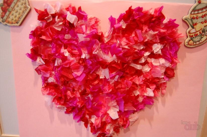 Tissue Paper Craft Love