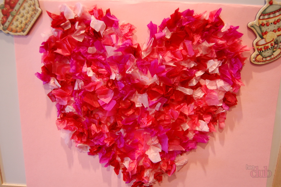 Tissue Paper Craft Love