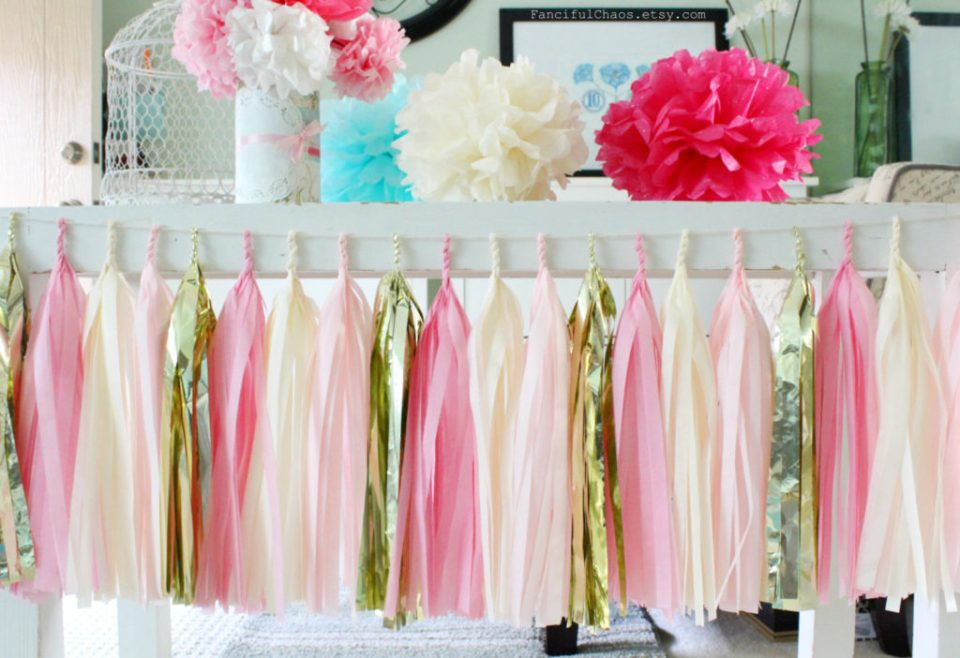 Tissue Paper Craft Tassel