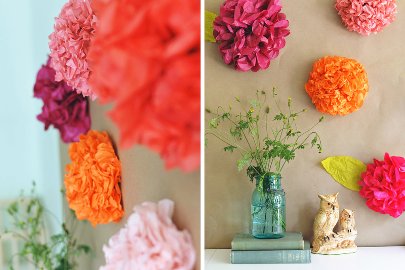 Tissue Paper Craft Wall Art