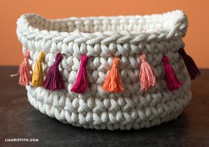 Embroidery Floss Woven Basket