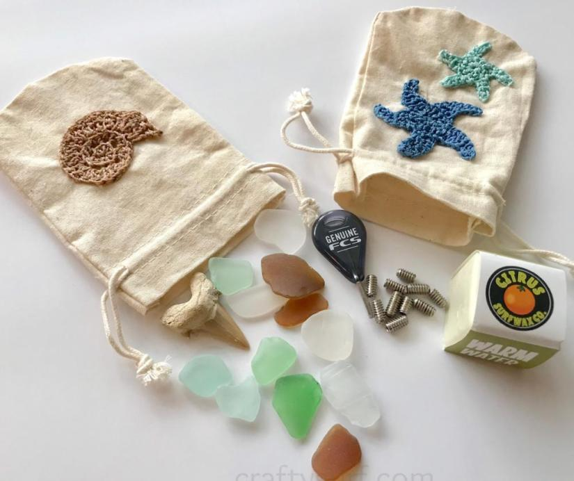 Embroidery Floss Jewelry Bag