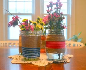 Embroidery Floss Mason Jar