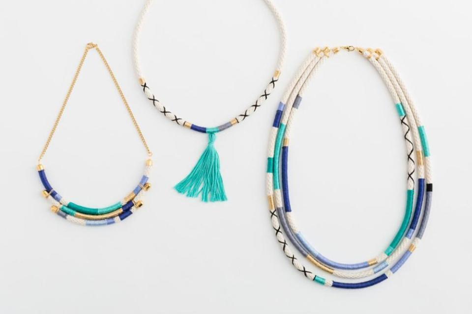 Embroidery Thread Earrings