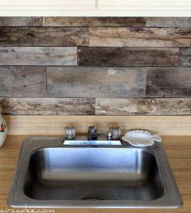 Wood Crafts Backsplash