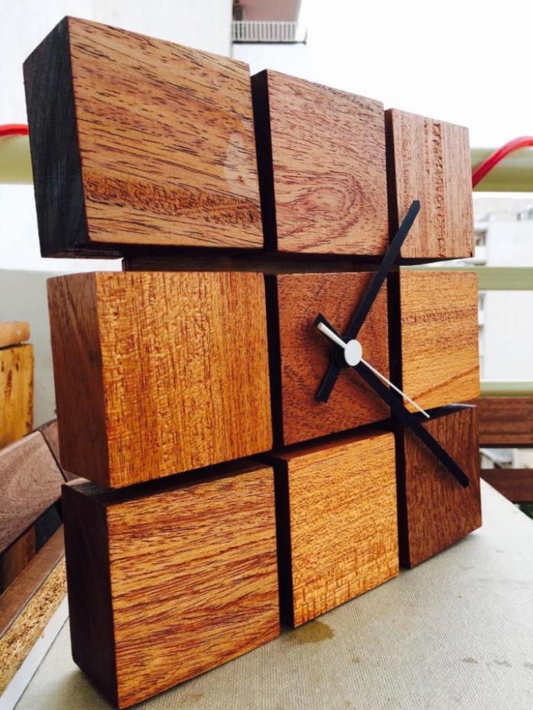 Wood Crafts Clock