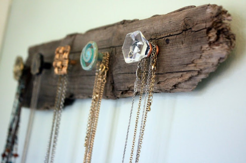 Wood Crafts Jewelry Hanger