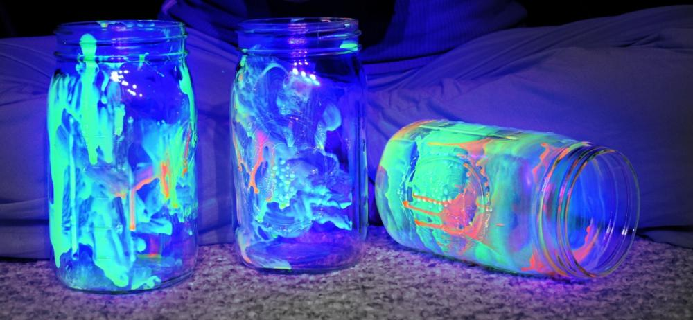 Camping Crafts Glow Jar