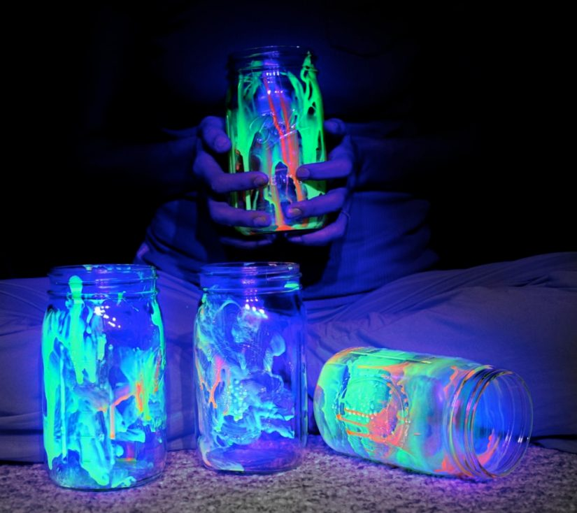 Camping Crafts Glowing Jars