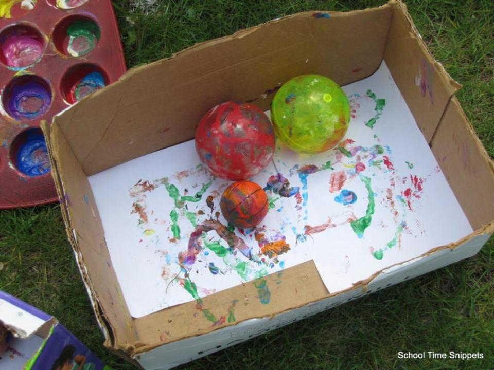 Crafts for Toddlers Box and Ball