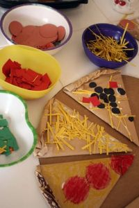 Crafts for Toddlers Pizza