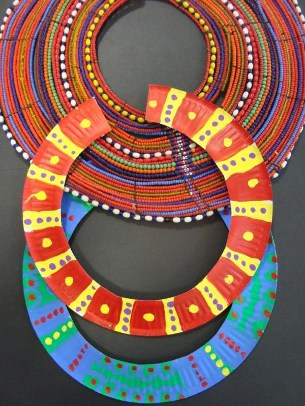 Paper Plate Craft Necklace
