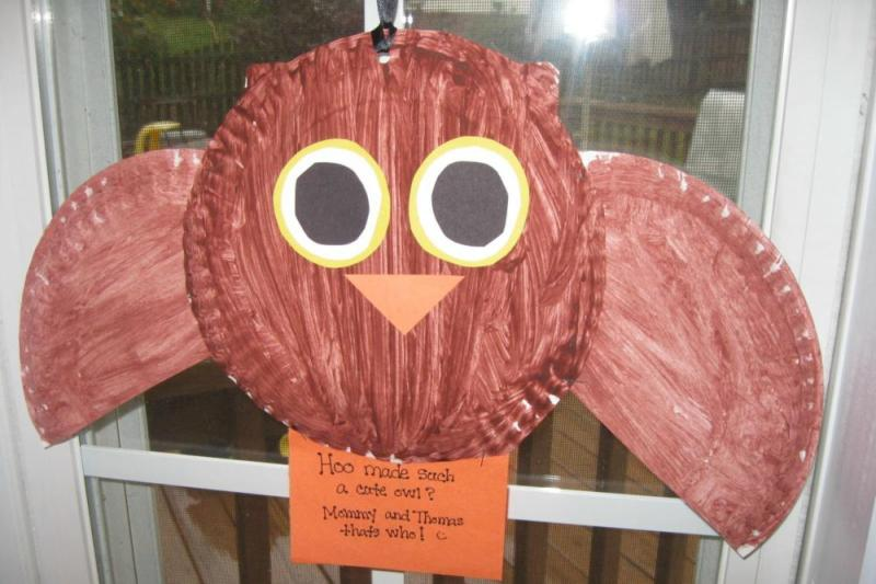 Paper Plate Craft Owl