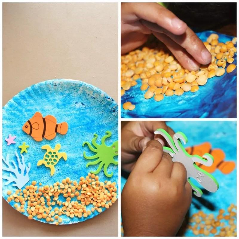 Paper Plate Craft Aquarium