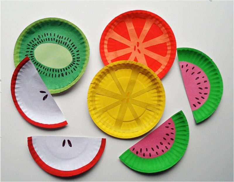 Paper Plate Craft Fruits