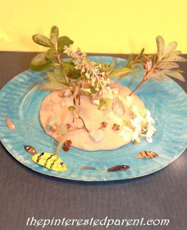 Paper Plate Craft Island