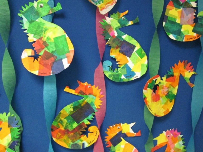 Paper Plate Craft Seahorse